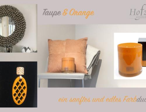 Taupe und Orange – ein sanftes und doch starkes Farbduo